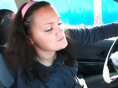 Nasty milf ex girlfriend Mila Max and her boyfriend fuck inside the car in this scene