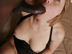 Magda invites a black guy over and gets him to fuck her hairy pussy in front of a webcam