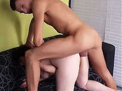 Simone is a fat mature redhead seducing a younger guy and taking a cock inside her fat pussy